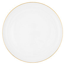 Buy John Lewis Contour Gold Bone China Platter, White / Gold Online at johnlewis.com