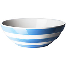 Buy Cornishware Cereal Bowl, Blue/White, Dia.17cm Online at johnlewis.com
