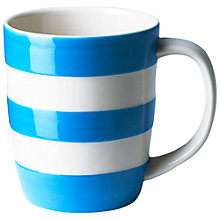 Buy Cornishware Mug, Blue/White, 340ml Online at johnlewis.com