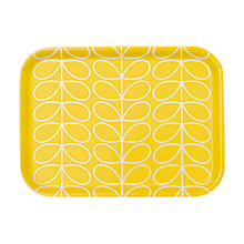 Buy Orla Kiely Small Linear Stem Tray, Sunshine Yellow Online at johnlewis.com