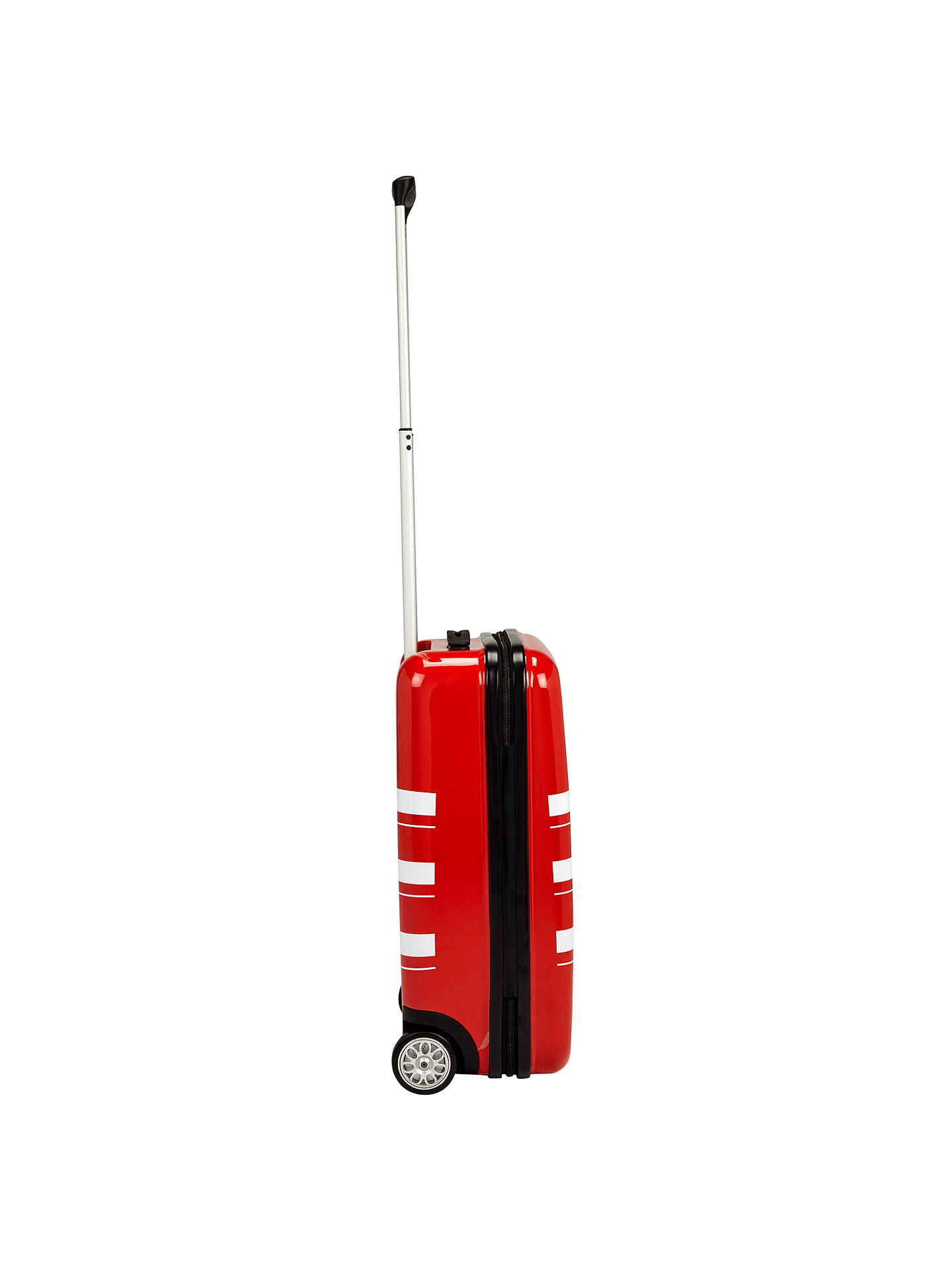 BuyJohn Lewis Bondi 2-Wheel 55cm Cabin Suitcase, Red/White Online at johnlewis.com