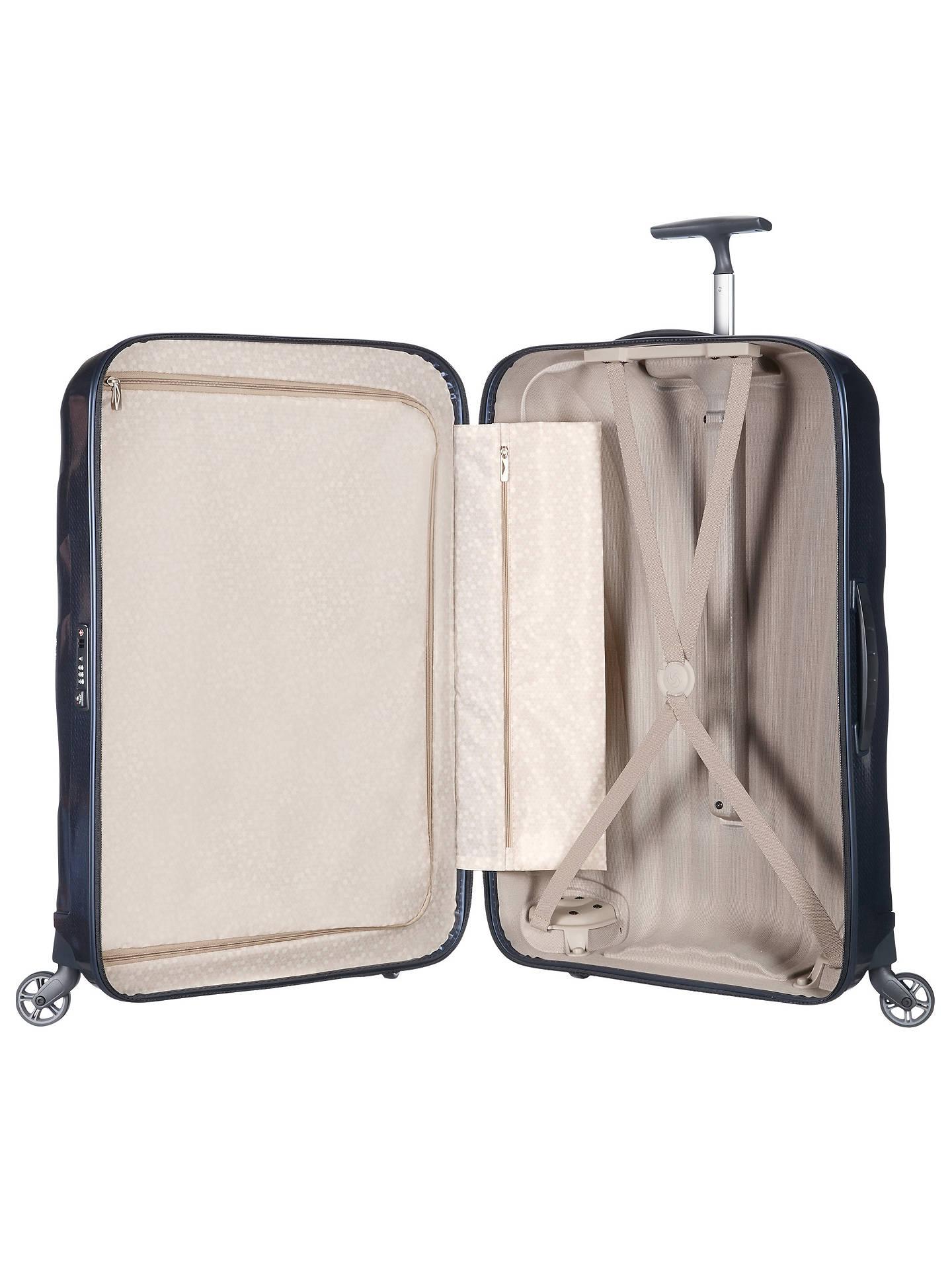Entdecken Sie die neuesten Trends große Auswahl an Designs Beste Samsonite Cosmolite 3.0 Spinner 4-Wheel 86cm Suitcase, Navy