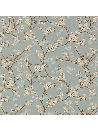 John Lewis & Partners Blossom Weave Made to Measure Curtains or Roman Blind, Duck Egg