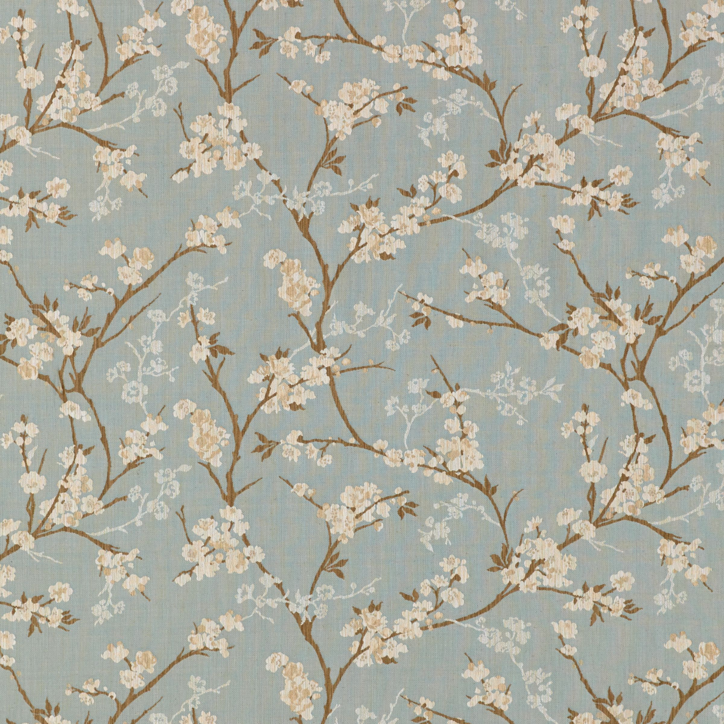 John Lewis Partners Blossom Weave Made To Measure Curtains Duck Egg
