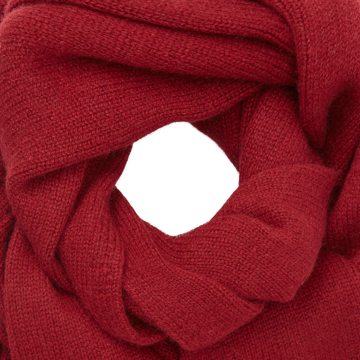 BuyJohn Lewis Cashmere Scarf, Red Online at johnlewis.com