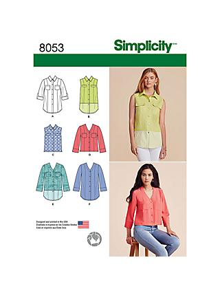 Tops Sewing Patterns John Lewis Partners