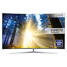 "Buy Samsung UE55KS9000 Curved SUHD HDR 1,000 4K Ultra HD Quantum Dot Smart TV, 55"" with Freeview HD/Freesat HD & 360° Design, UHD Premium Online at johnlewis.com"