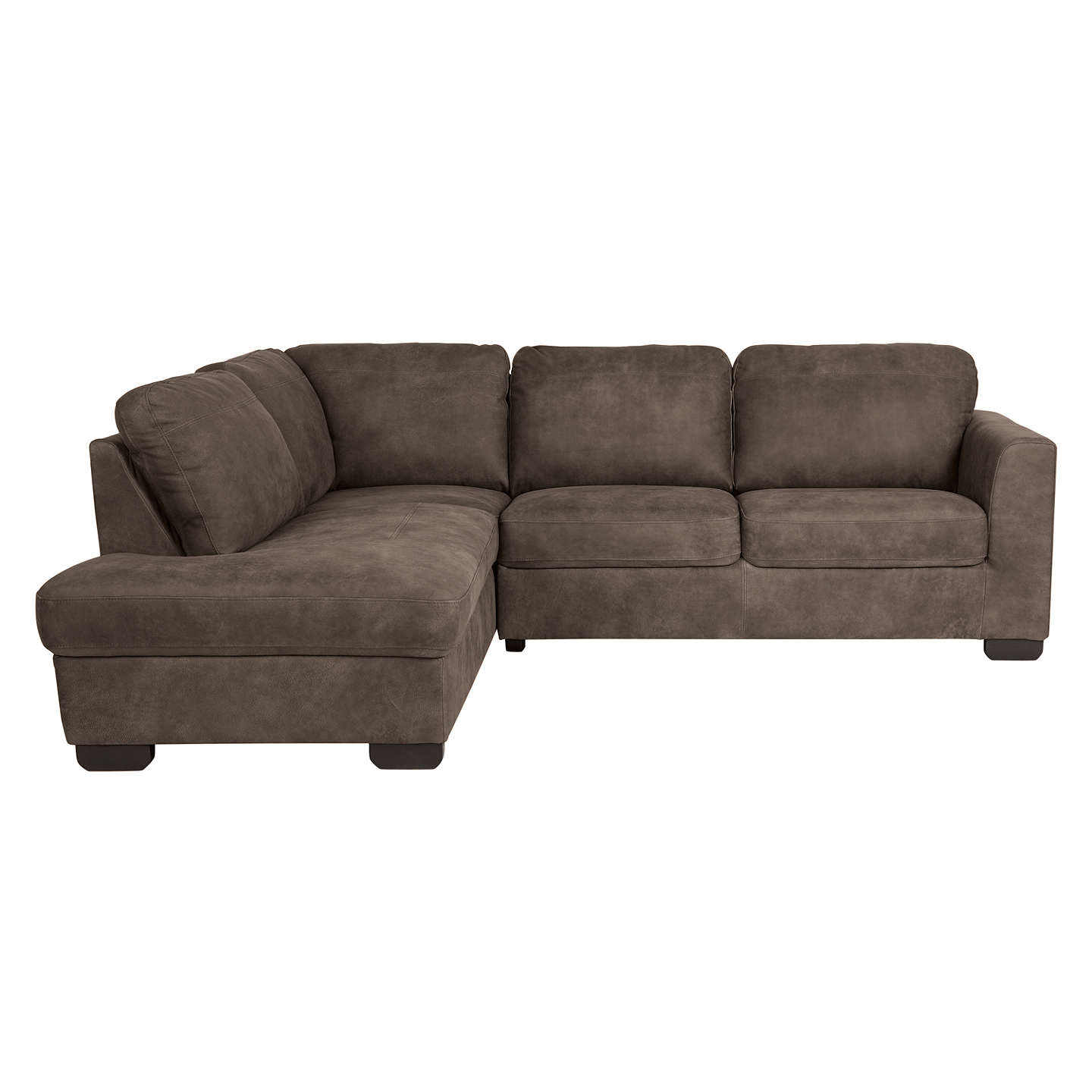 John Lewis Cooper Corner Sofa: John Lewis Cooper LHF Leather Corner Chaise End Sofa With