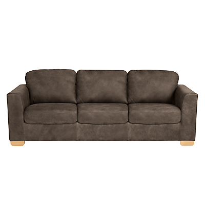 John Lewis Cooper Grand 4 Seater Leather Sofa, Light Leg