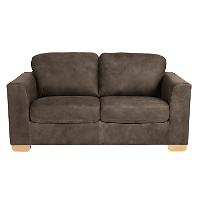 John Lewis Cooper Medium 2 Seater Leather Sofa, Light Leg