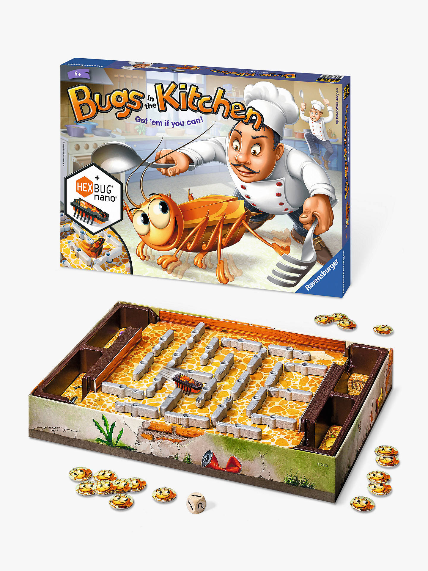 ravensburger bugs in the kitchen game with hexbug nano at john lewis rh johnlewis com
