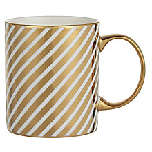 Buy John Lewis Stripe Mug, Gold Online at johnlewis.com