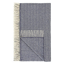 Buy John Lewis Croft Collection Amble Throw, Blue Online at johnlewis.com