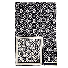 Buy John Lewis Snowflakes Throw, Navy Online at johnlewis.com