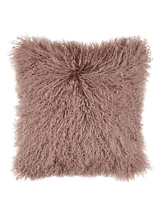 John Lewis & Partners Mongolian Sheepskin Cushion