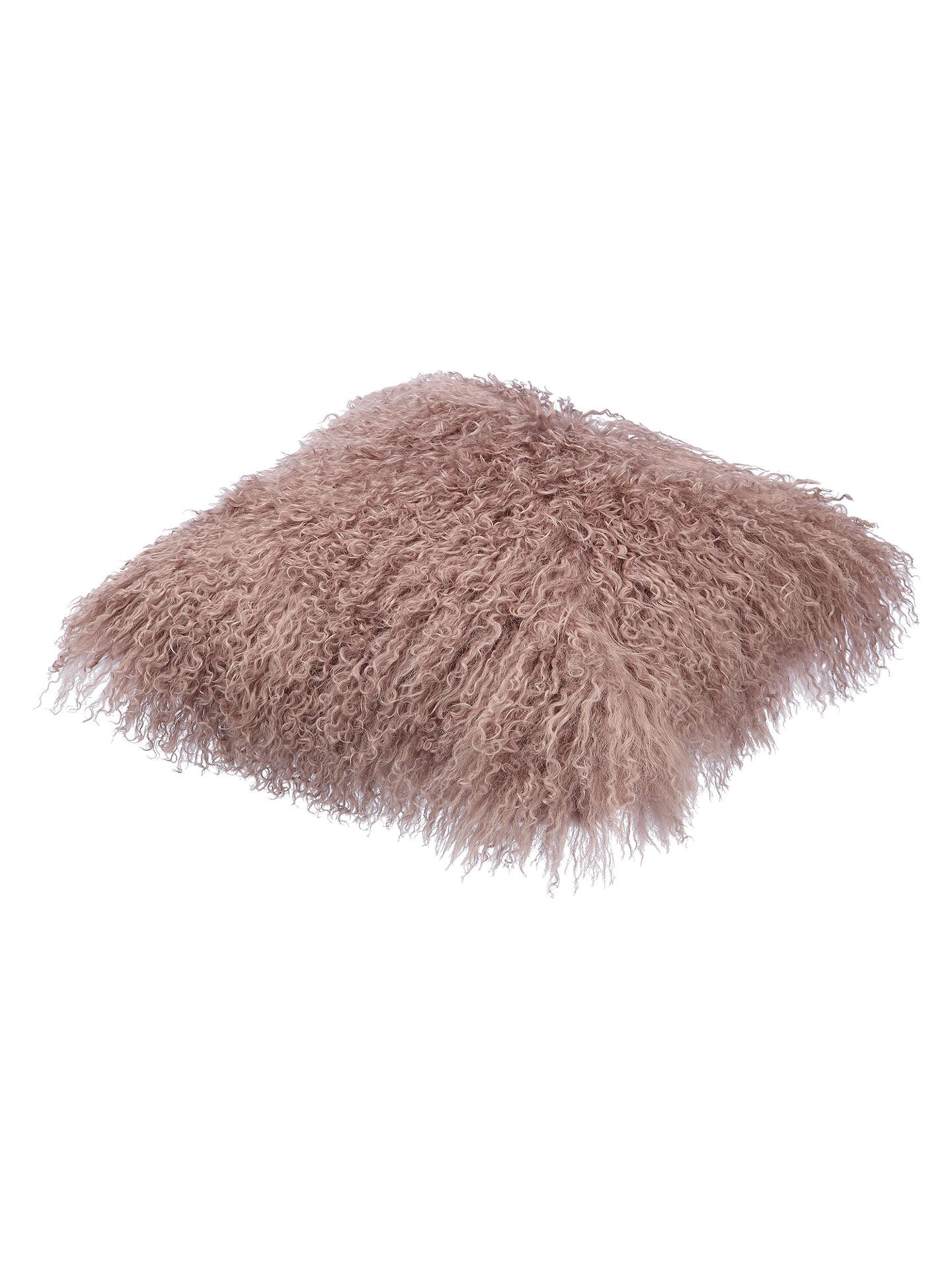 BuyCroft Collection Mongolian Sheep Hair Cushion, Rosa Online at johnlewis.com