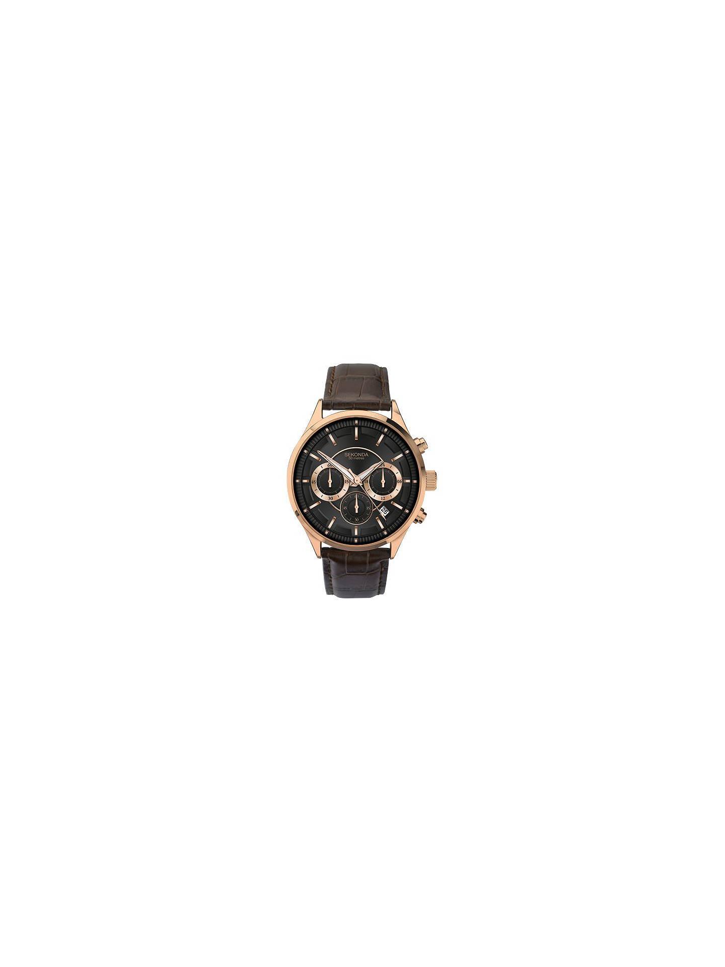 d063595d0bc Buy Sekonda 1178.27 Men s Chronograph Date Leather Strap Watch