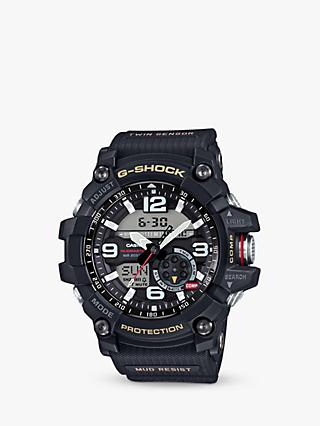 Casio GG-1000-1AER Men's G-Shock Chronograph Day Resin Strap Watch, Black