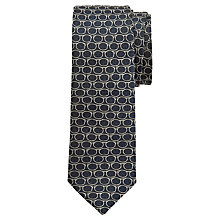 Buy Ted Baker Croxeti Silk Tie, Navy/Gold Online at johnlewis.com