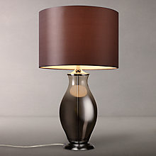 Buy John Lewis Alana Ombre Glass Table Lamp, Chrome/Grey Online at johnlewis.com