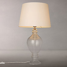 Buy Croft Collection Ava Table Lamp, Clear Glass/Ivory Shade Online at johnlewis.com
