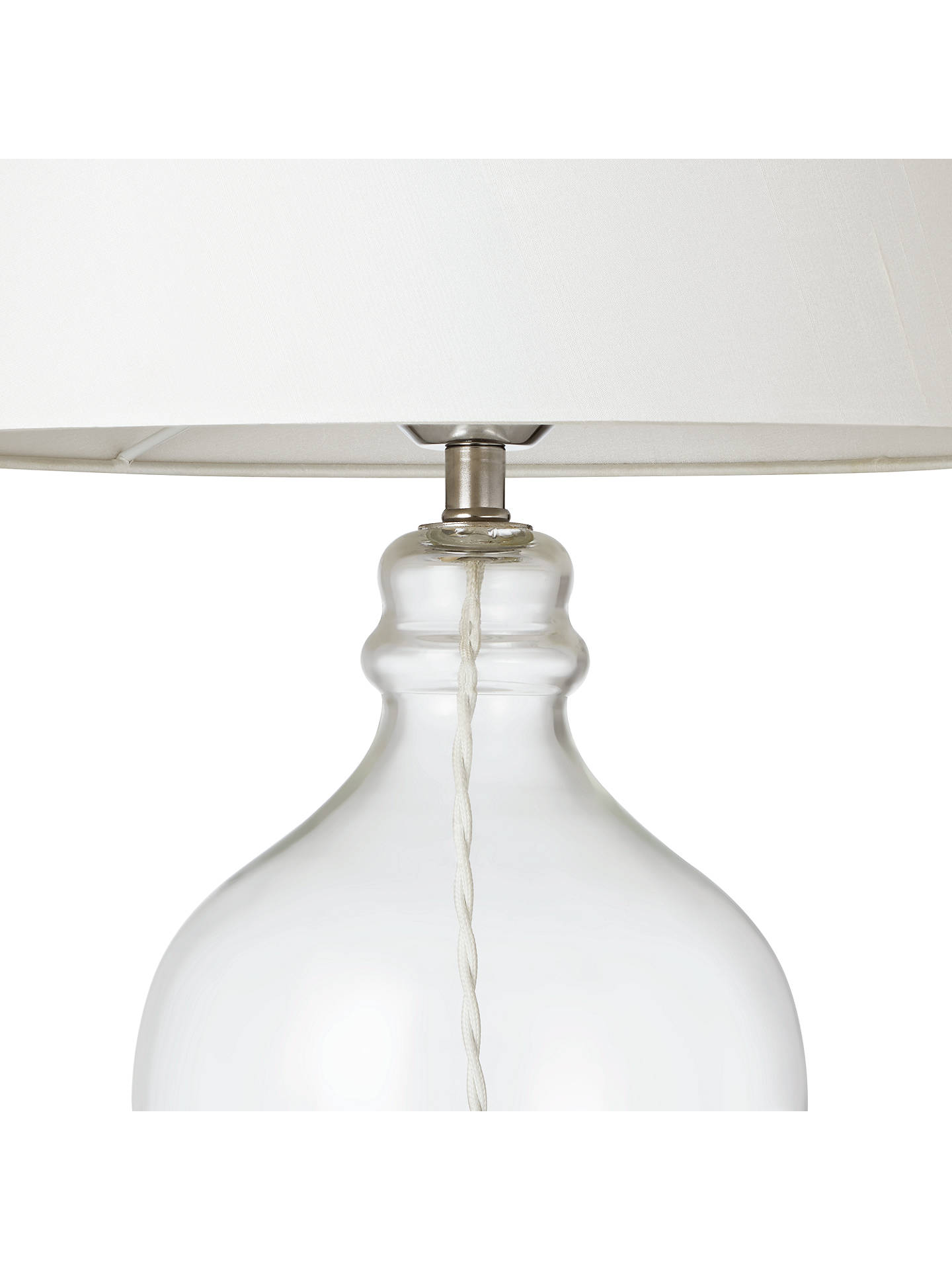 Croft Collection Ava Table Lamp, Clear GlassIvory Shade at