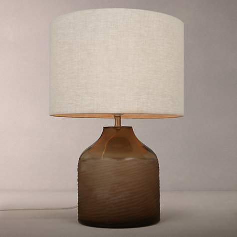 Buy John Lewis Scratched Glass Table Lamp, Amber Online at johnlewis.com