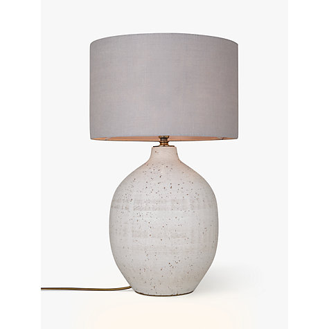 buy john lewis berber round embossed stoneware lamp base white online at