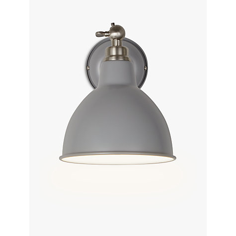 John Lewis Wall Light Fittings: Buy John Lewis Aiden Wall Light, Grey Online at johnlewis.com,Lighting