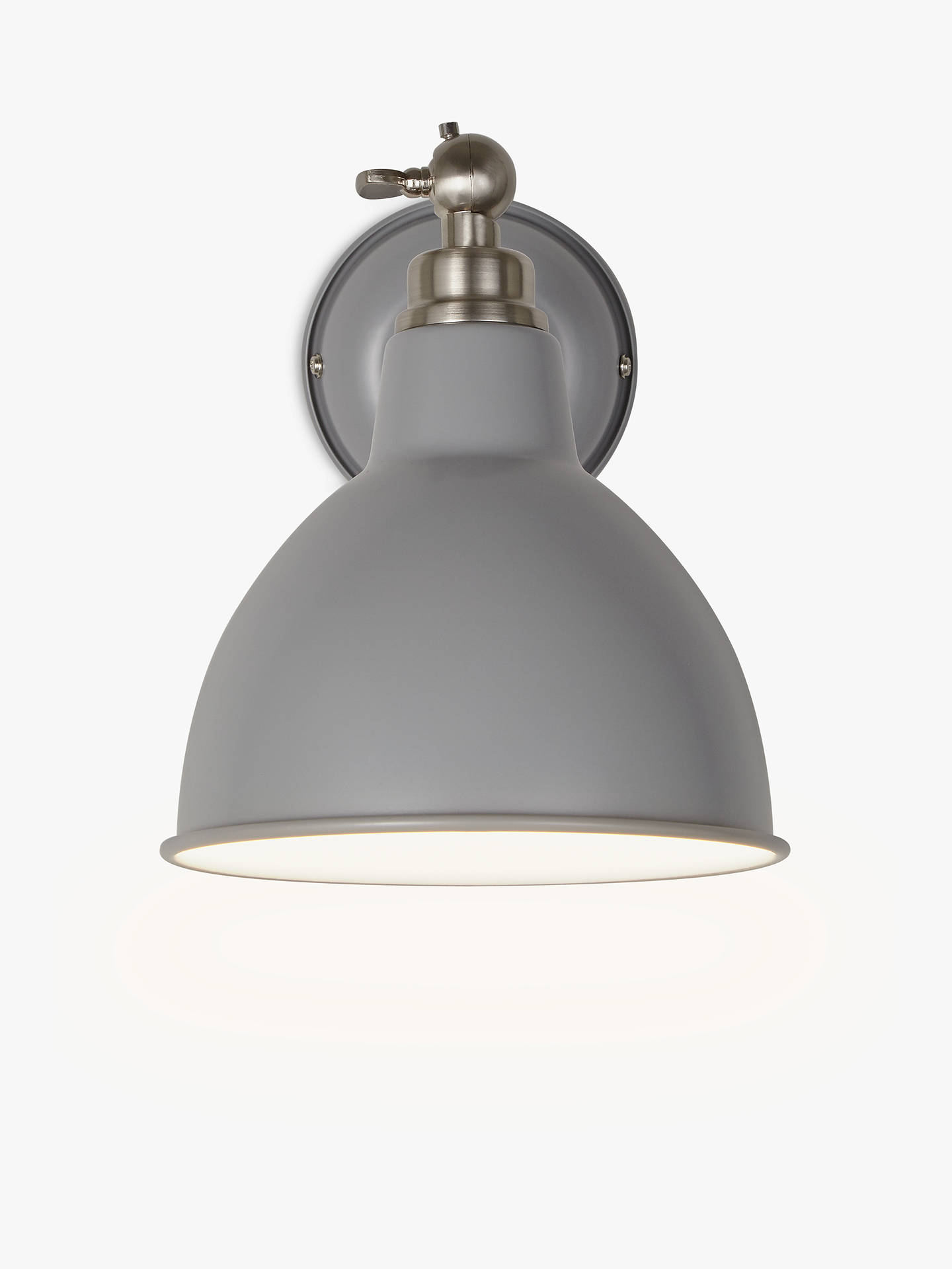 BuyJohn Lewis & Partners Aiden Wall Light, Grey Online at johnlewis.com