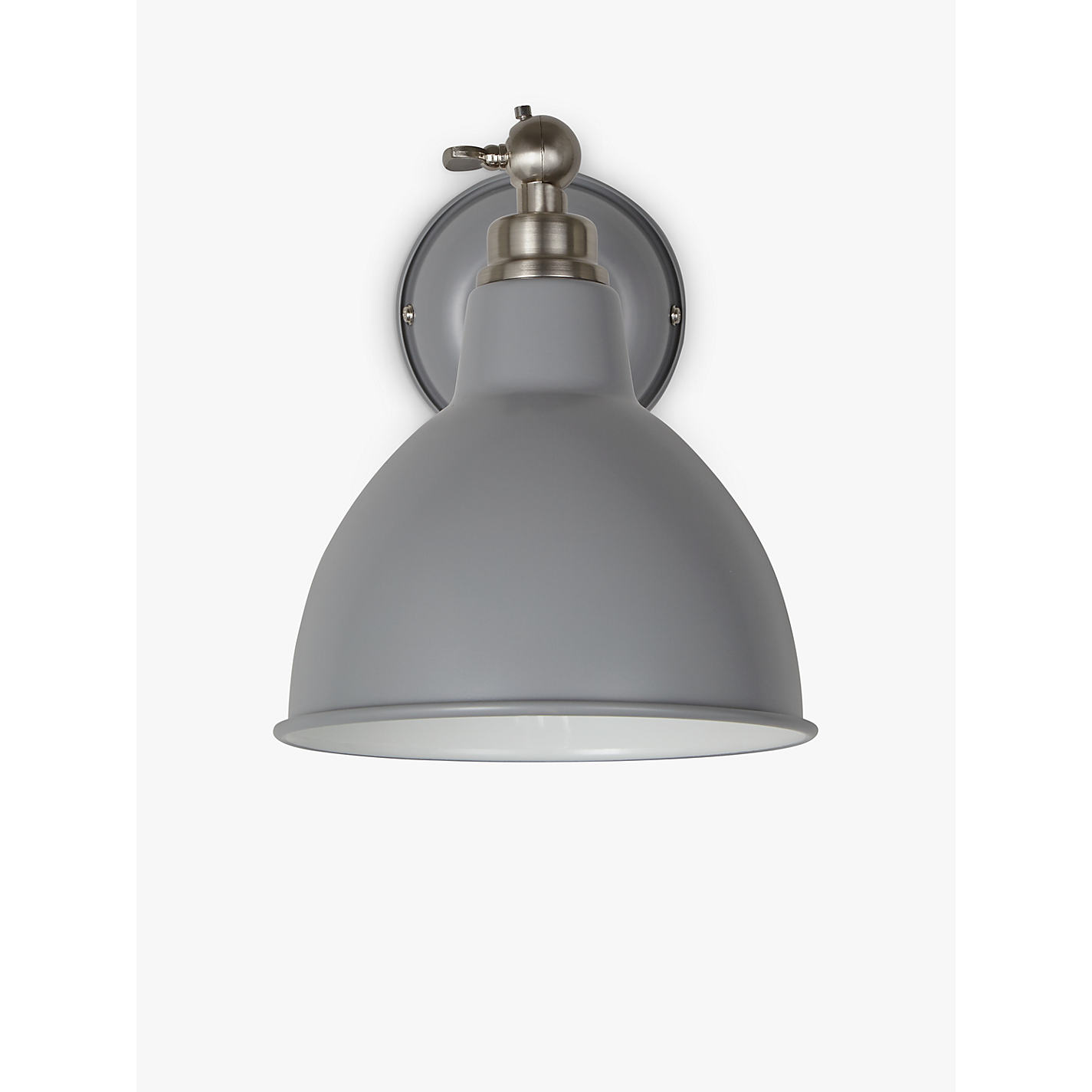 Light Grey Wall buy john lewis aiden wall light, grey | john lewis