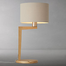 Buy John Lewis Abin Table Lamp, Oak Online at johnlewis.com