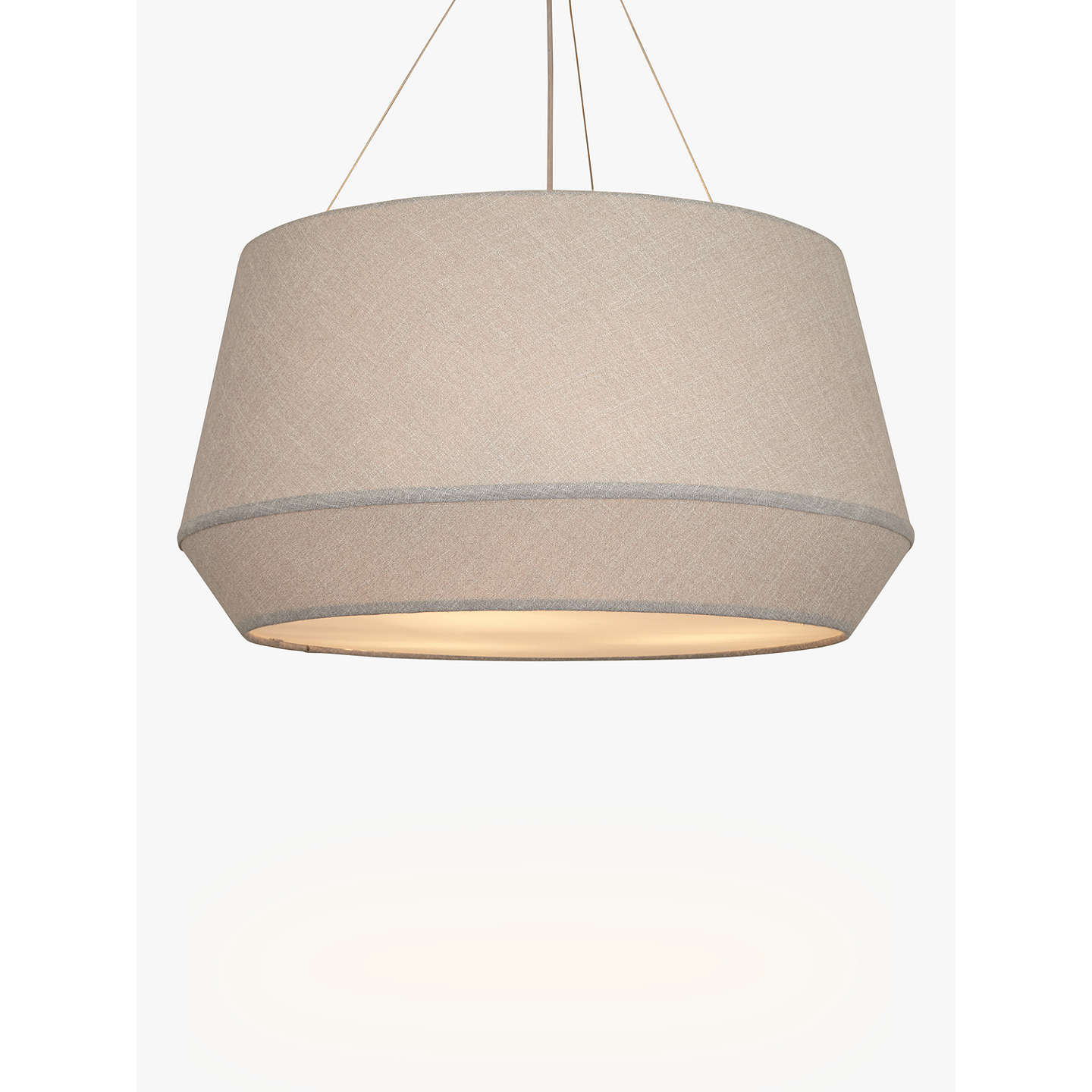 John lewis astrid fabric pendant grey at john lewis buyjohn lewis astrid fabric pendant grey online at johnlewis mozeypictures Image collections