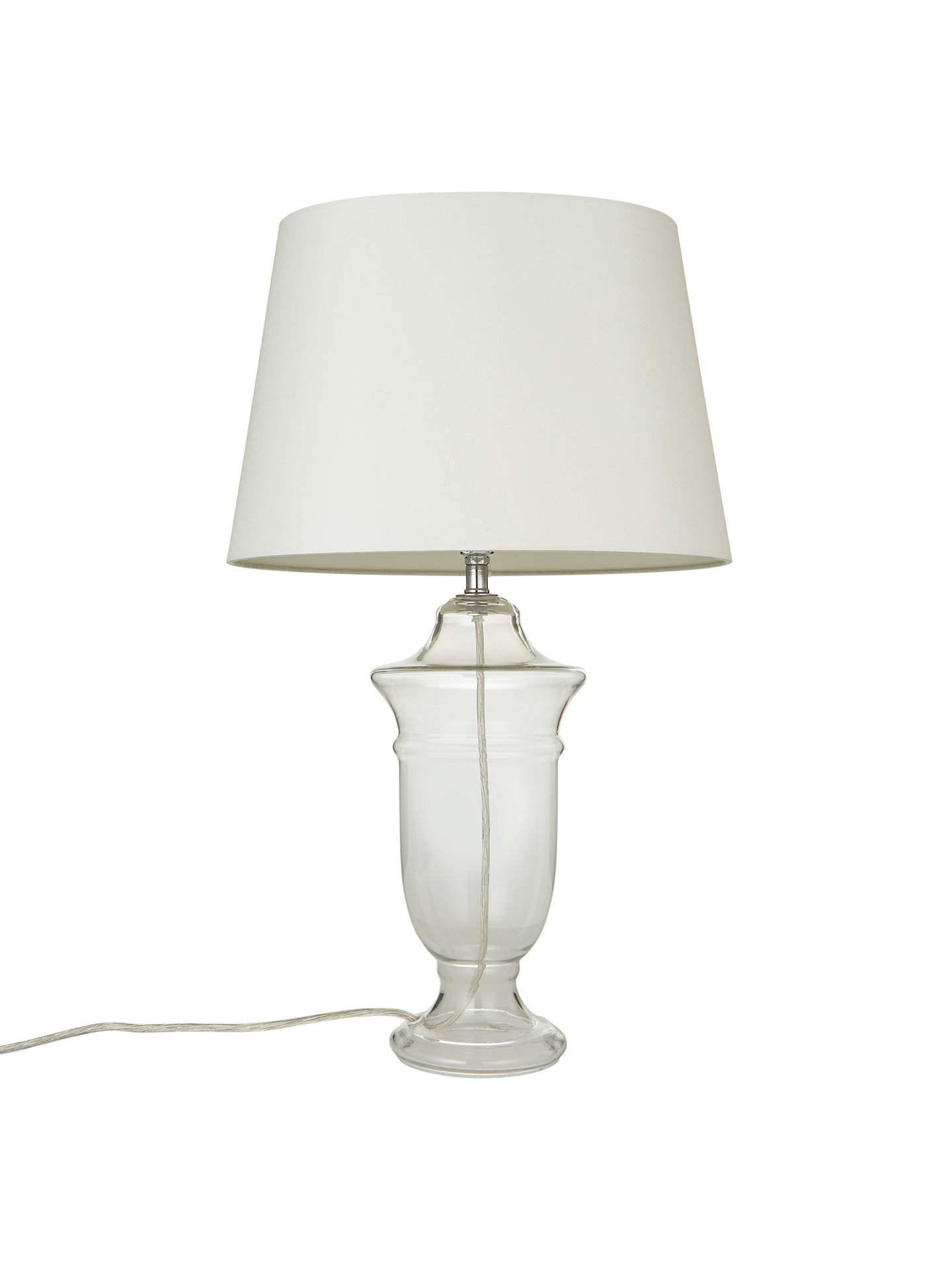 BuyJohn Lewis Beatrice Glass Urn Lamp Base, Clear Online at johnlewis.com