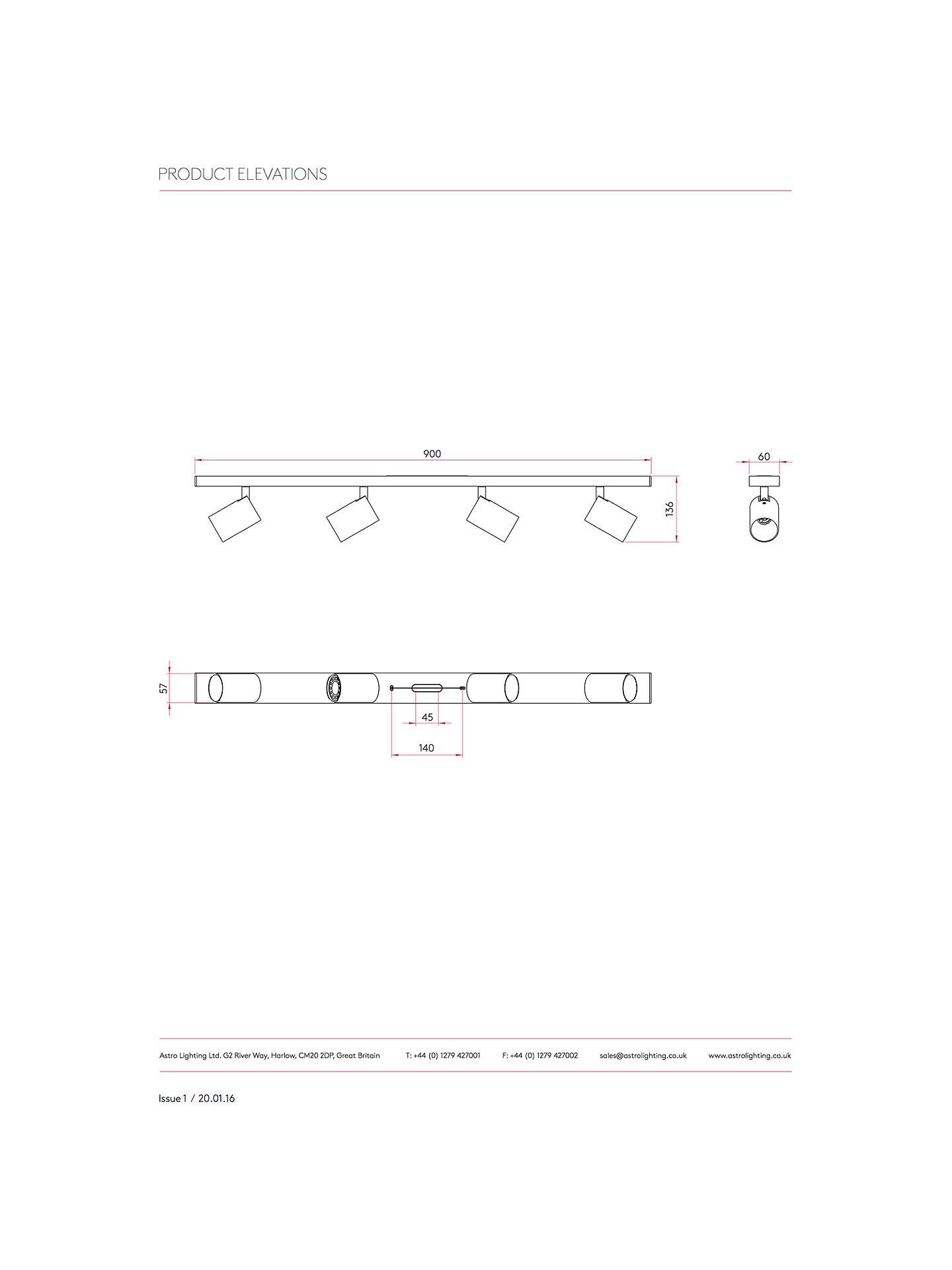 Astro Ascoli Spotlight 4 Bar At John Lewis Partners Wiring Diagram Uk Buyastro White Online
