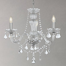 Buy John Lewis Bethany Pendant Light, 3 Arm, Crystal Online at johnlewis.com