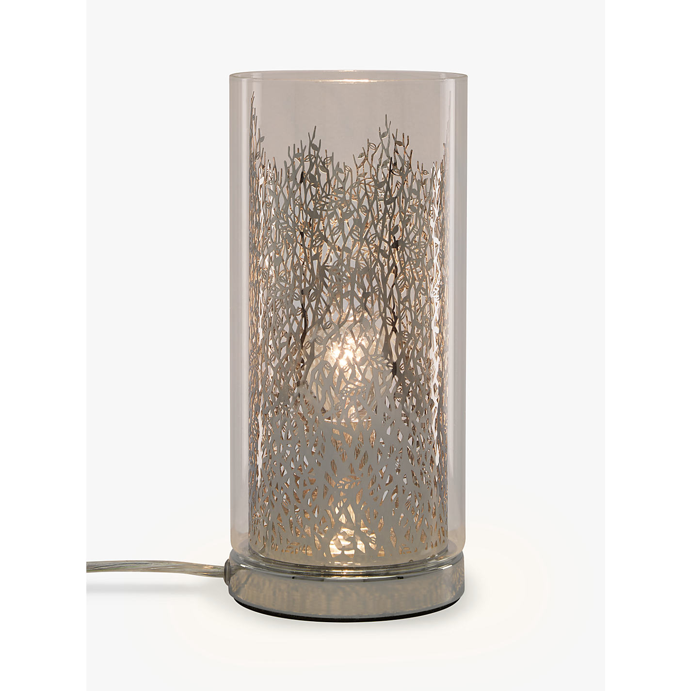 Buy John Lewis Blakeley Clear Glass U0026 Metal Touch Table Lamp, Clear Online  At Johnlewis ...