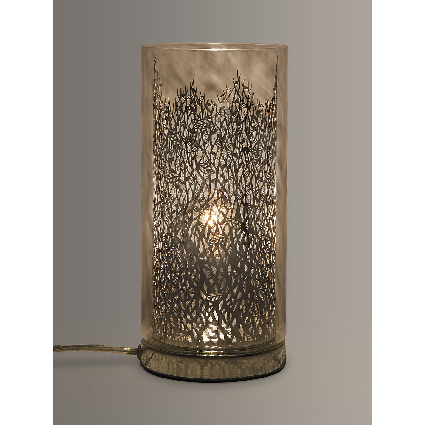 Buy john lewis blakeley clear glass metal touch table lamp buy john lewis blakeley clear glass metal touch table lamp clear online at johnlewis geotapseo Image collections