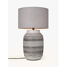 Buy John Lewis Ashanti Lamp Base, Stoneware/Black Online at johnlewis.com