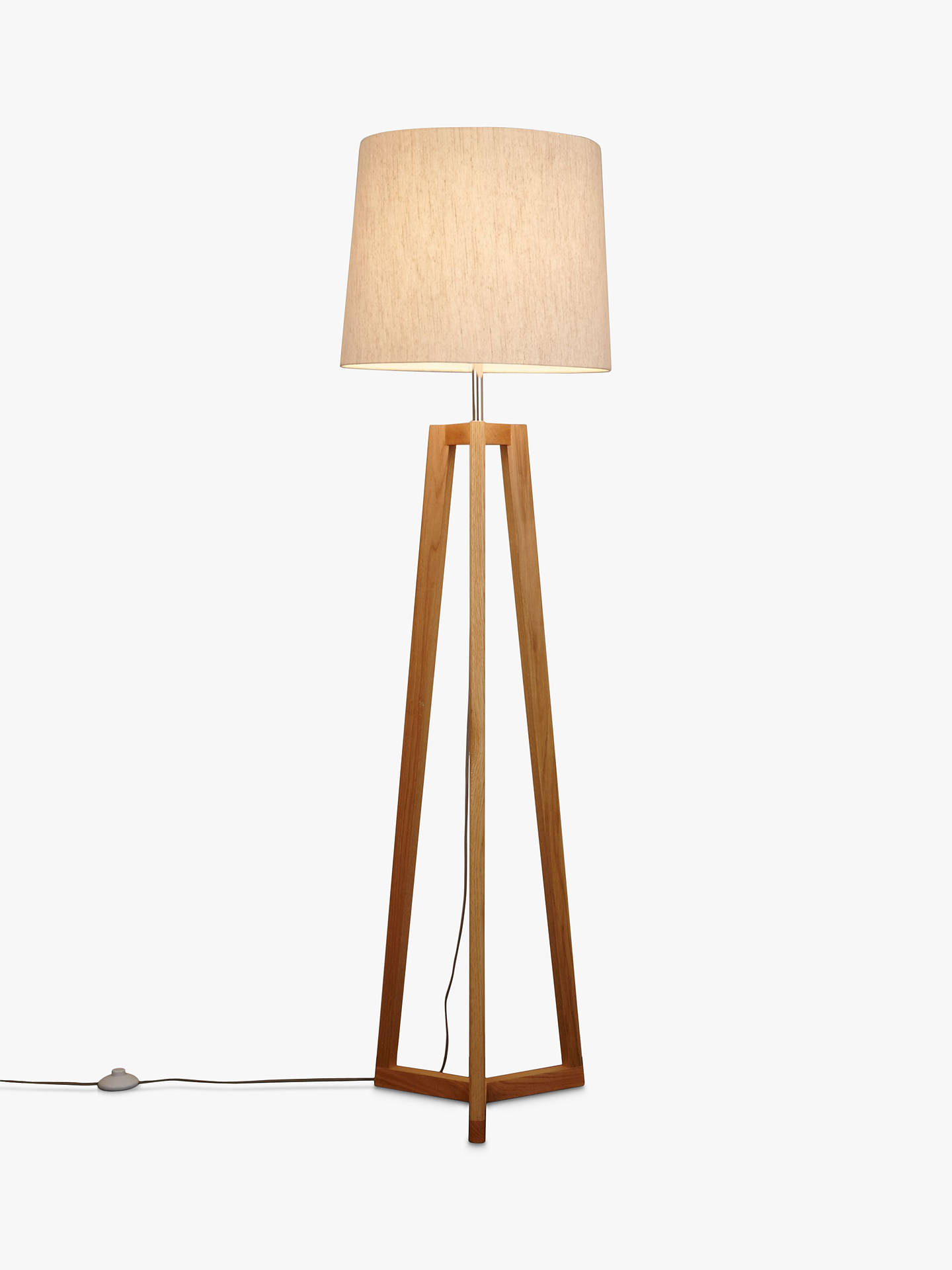 John Lewis Partners Brace Floor Lamp Fsc Certified Oak Online At