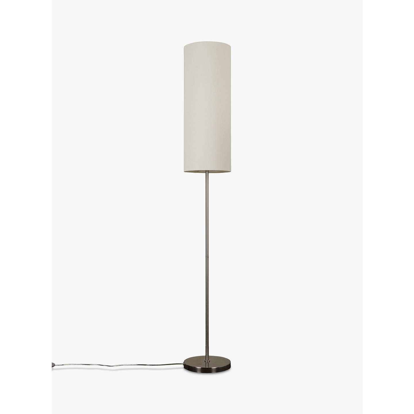 John lewis chrissie slim shade floor lamp satin nickel at john lewis buyjohn lewis chrissie slim shade floor lamp satin nickel online at johnlewis mozeypictures Gallery