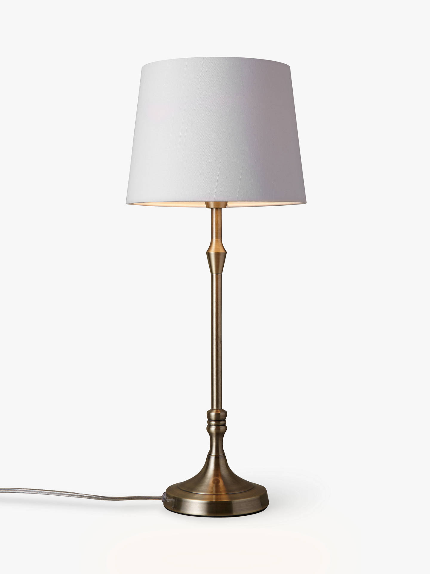 BuyJohn Lewis & Partners Cleo Turned Candlestick Table Lamp, Antique Brass Online at johnlewis.com