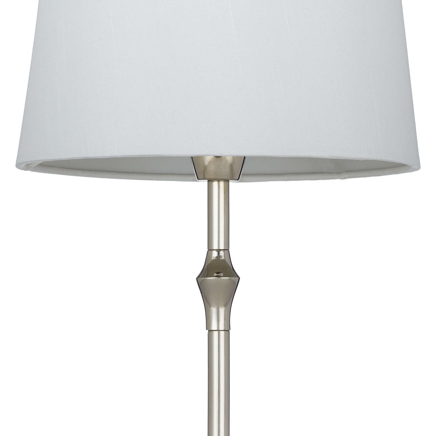 BuyJohn Lewis Cleo Turned Candlestick Table Lamp, Nickel Online at johnlewis.com