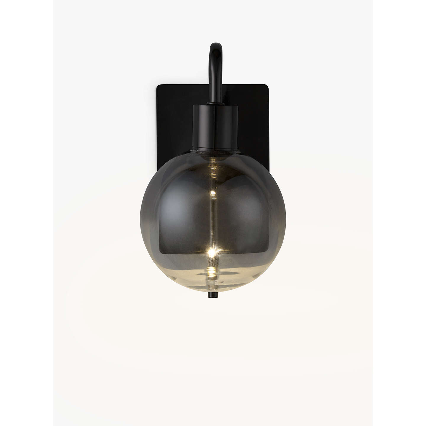 john lewis dano led ombre lustre single wall light smoke at john lewis