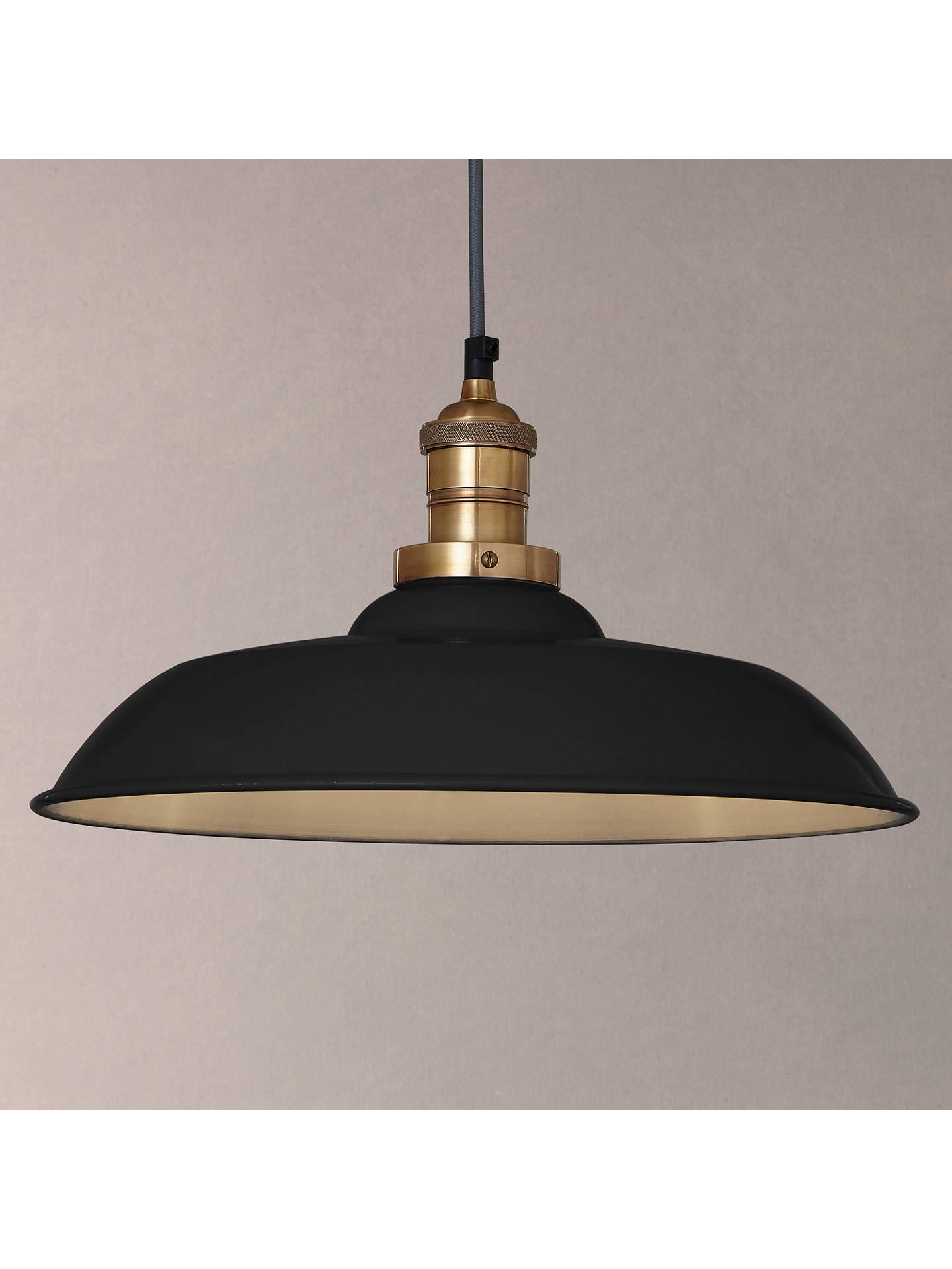 Croft Collection Clyde Br Trim Ceiling Pendant Light Black