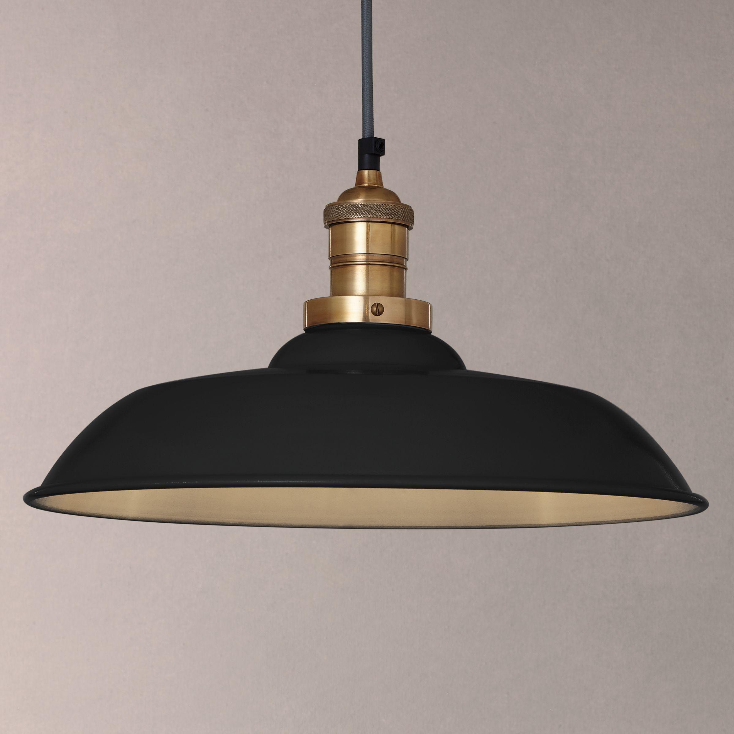 Croft Collection Clyde Brass Trim Ceiling Pendant Light Black At John Lewis Partners