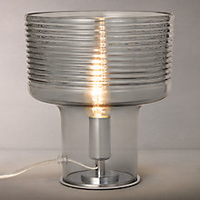 Buy John Lewis Damon Ribbed Glass Vessel Table Lamp, Grey Online at johnlewis.com