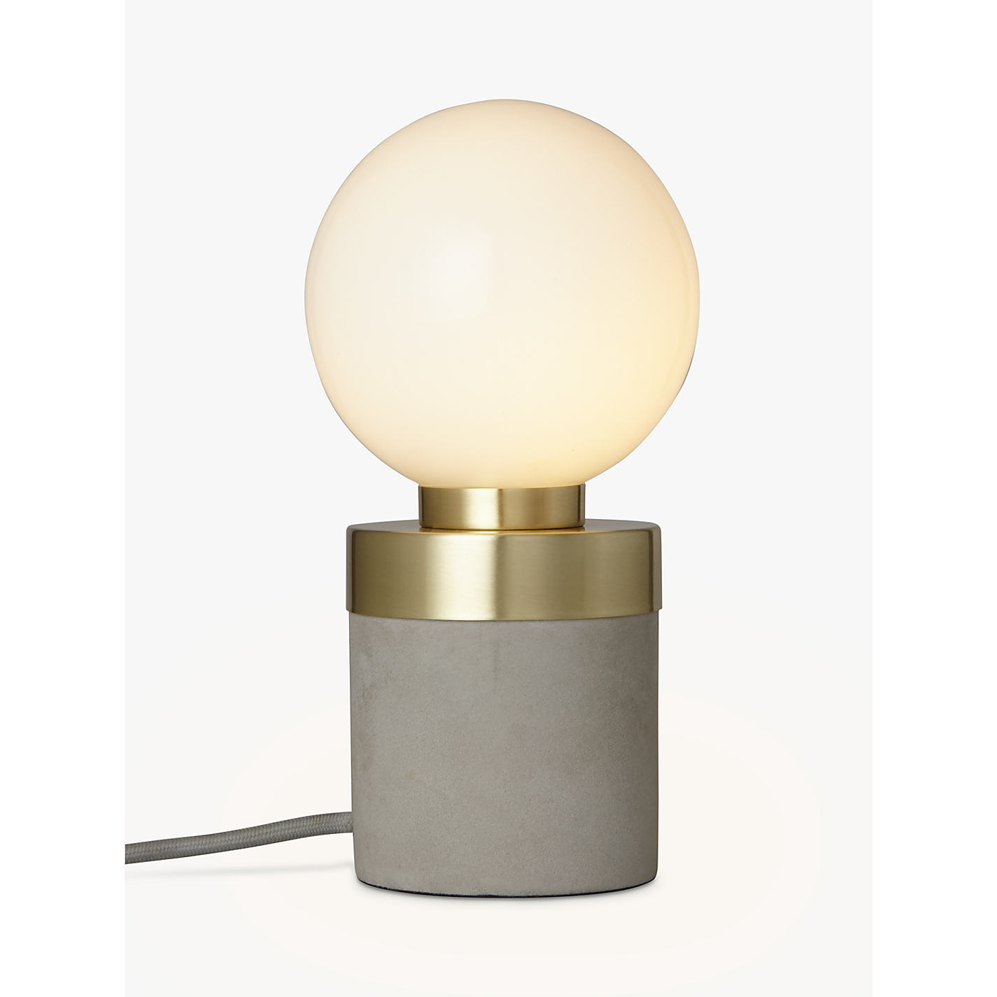 Buy Design Project by John Lewis No.046 Lamp, Opal Glass/Concrete Online ...