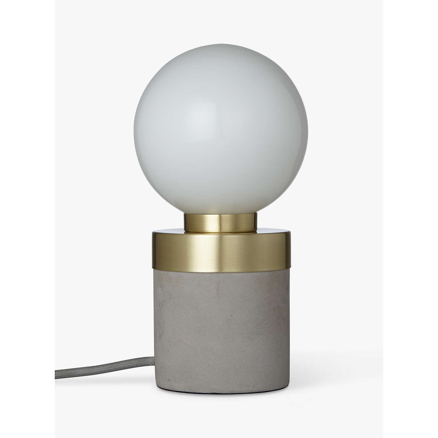 BuyDesign Project by John Lewis No.046 Lamp, Opal Glass/Concrete Online at johnlewis.com