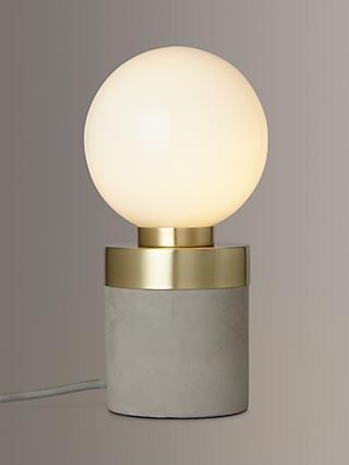 John Lewis & Partners No.046 Lamp, Opal Glass/Concrete